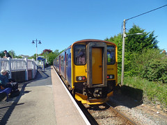 150238 Gunnislake (1) (Marky7890) Tags: gwr 150238 class150 sprinter 2g72 gunnislake railway cornwall tamarvalleyline train