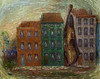 'Image with a Green House' by Rene Magritte (Greatest Paka Photography) Tags: renemagritte art artist museum sfmoma townhouse painting surrealism violin street belgian
