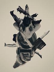 The Killing Moon (mightyjoecastro) Tags: mightyjoecastromixedmediacollagecutpasterayjohnson art arte artist analogcollage arts blackandwhite killing moon monotone graphic delaware design war contemporaryart modernart conflict