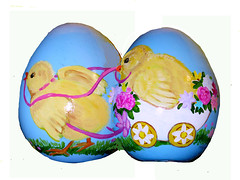 Large Egg Flat (M.P.N.texan) Tags: paint painting easter egg handpainted original decor decoration mpn