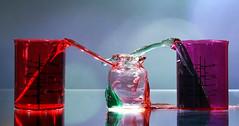 Messy lab works (Wim van Bezouw) Tags: sony ilce7m2 water drops splash bottle lab