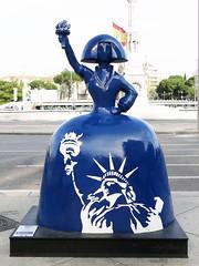 """Menina """"Libertad"""", de Antonio Azzato (Madrid) (Juan Alcor) Tags: libertad antonioazzato libertyseguros plazadecolon madrid 2018 meninasmadridgallery menina meninas exposicion españa spain"""