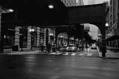 Kind Of Like A Posse.jpg (Milosh Kosanovich) Tags: chicagopolicebicycles chicagophotographicart epsonv750pro fujimicrofine11 chicagophotoart chicago silverfast nikonf100 trumptower wabashavenue mickchgo bwfilm miloshkosanovich chicagophotographicartscom rainyday kodakdoublex5222