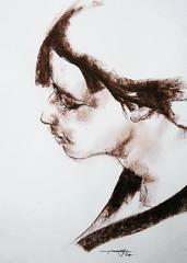 P1018087 (Gasheh) Tags: art painting drawing sketch portrait girl line pen pastel gasheh 2018