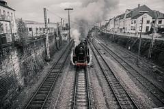 Steam! Steam! Steam (FOXTROT ROMEO) Tags: stream locomotive lokomotive eisenbahn train railroad german trier 01202 lok db deutschebahn bahn diebahn dampfspektakel blackwhite red