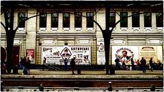 À la gare comme à la gare .. (Visavis..) Tags: trainstation lviv 35mmequiv ukraine fujix100 fujifixepixx100 people architecture urbanlife urban