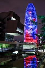 Torre Agbar (Danel Baptista) Tags: skyscraper city scape skyline office building financial district oficepark brickellave barcelona agbar tower torre