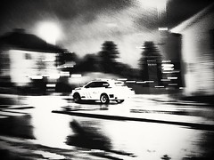 Speed/Fart (Bjorn-Erik Skjoren) Tags: police cop weather rain whet dark norway