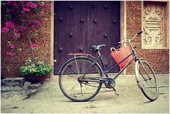 L'antico villaggio di Duong Lam ... (Augusta Onida) Tags: duonglam hanoi vietnam leicam filtro bici bike porta door villaggio village filter
