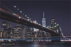 New York (Keith Morgan Photography) Tags: newyork newyorkcity oneworldtradecentre nyc nycskyline longexposure nightscape city cityscape nikon nikond750 nikonuser bigapple usa keithmorgan keithmorganphotography tripod brooklyn brooklynbridge suspensionbridge bridge