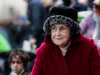 Lady in red (Frank Fullard) Tags: frankfullard fullard candid street portrait lady old elderly red newport westport mayo irish ireland face hat woollen wool elegant
