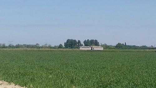 Railbus van de SGB tussen Hoedekenskerke en Baarland