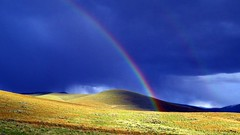 It's All Sunshine and Rainbows from Now On 4 (Chief Tendoy) Tags: rainbow rollinghills foothills doublerainbow stormscape hills sagebrushforest clouds lemhicounty beaverheadmountains lemhivalley unitedstates salmonidaho tendoyidaho bakeridaho landscape