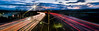 las colinas panorama (pbo31) Tags: eastbay alamedacounty bayarea california evening may spring 2018 boury pbo31 color nikon d810 livermore roadway lightstream motion traffic infinity 580 highway overpass sunset sky red over panorama large stitched panoramic express lane