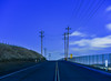 the lonely road to nowhere (pbo31) Tags: eastbay alamedacounty bayarea california evening may spring 2018 boury pbo31 color nikon d810 livermore roadway sky bluehour blue farm country