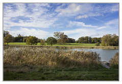 Blickling Hall Lake (Audrey A Jackson) Tags: canon60d blicklinghall lake clouds landscape