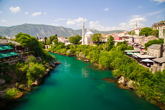 Mostar (ncs1984) Tags: bosnia herzegovina europe travel canon 6d bosniaandherzegovina canon6d beautiful landscape nice beauty green water river color colour mostar city ottoman mosque minaret ngc