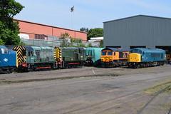 Kidderminster diesel depot, Severn Valley Railway (colin9007) Tags: br english electric class 08 09 diesel shunter d3022 d4100 08015 09012 sulzer peak 45 45041 d53 royaltankregiment emd 66