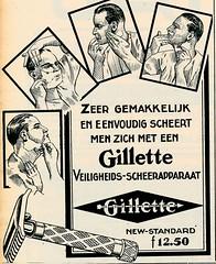de stad Amsterdam 1923 adv Gilette. c (janwillemsen) Tags: advertising amsterdam 1923 magazineillustration