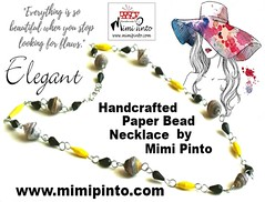 mimi pinto paperbead necklace (MimiPintoArt) Tags: necklace handmade paper beads craft anniversary gift idea bespoke