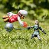 Link Vs Mario (jezbags) Tags: link vs mario nintendo superhero grass toy toys macro macrophotography macrodreams canon canon80d 80d 100mm fireball
