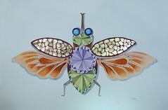Watercolour Bug (Cecilia Temperli) Tags: watercolour aquarelle bug diamonds