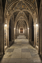 Medieval Hall (Spencer Lee Photography) Tags: medieval cathedral hallway duplicate hdr highdynamicrange exposure highlights shadows durham duke dukecampus college university dukeuniversity dukechapel nikon nikonphotography nikonphotographer