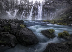 Burney Falls - Northern CA (4-shot vertical pano) (wesome) Tags: adamattoun burneyfalls california