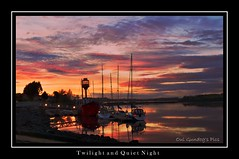 Twilight and Quiet Night (Oul Gundog) Tags: sunset strangford lough ballydorn lightship co down northern ireland ulster sailing club house uk water sea peninsula sky red night twilight quiet