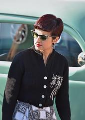 Maybellene.. (Harleynik Rides Again.) Tags: woman redhead retro nostalgia car vintage harleynikridesagain explore inexplore maybellene