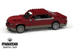 Mazda Sentia - 929 (lego911) Tags: mazda sentia 929 sedan saloon hardtop luxury 1991 1990s v6 rwd auto car moc model miniland lego lego911 ldd render cad povray japan japanese jdm