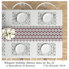 Design Challenge entry: 'Elegant holiday dinner dots by Su_G': tablewear mockup (Su_G) Tags: elegantholidaydinnerdotsbysug tablewear mockup spoonflower roostery dinnersetting placemat placemats spoonflowerdesignchallenge elegantholiday dinnerdots tablesetting homedecor homefurnishing interiordecor interiordecoration decoration decor spoonflowerelegantholidaylimitedcolorpalettedesignchallenge spoonflowerelegantholidaylimitedcolorpalette elegantholidaylimitedcolorpalette limitedcolorpalette elegant holiday festive tabledressing