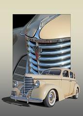 On Tour - 1938 Oldsmobile 4 Door Touring Sedan (Brad Harding Photography) Tags: 1938 38 olds oldsmobile 4door touring sedan chrome antique restoration restored whitewalls familyleisure olathe kansas cruisenight cruise