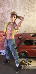 Mechanic Muscle (MaxxieJames) Tags: bastian hunter ken barbie doll dolls mattel made move fashion fashionista mechanic garage car