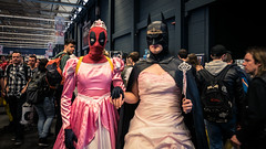 When Cosplayers go crazy... (Gilderic Photography) Tags: ghent gand gent belgium cosplay cosplayer fan festival sciencefiction comics funny insane batman deadpool facts comic con convention ballerina princess
