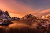 Lofoten Islands sunset (webeagle12) Tags: nikon d7200 europe nature earth planet mountains norway lofoten islands reine hamnoy artic village bay festhelltinden olstinden sunset