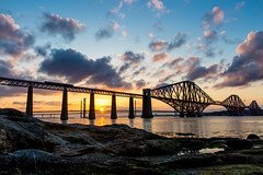 Forth Rail Sunset (jonathan.scaife81) Tags: forth rail bridge edinburgh south queensferry fife scotland silhouette night sun sunset canon 6d tamron28300 tamron 28300 sky clouds