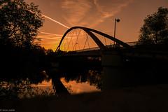 Sunset... (hobbit68) Tags: sonnenaufgang sonne ☀️ sunset frankfurt fechenheim himmel sun river fluss main steg baum bridge brücken wasser water xt2 fujifilm laterne