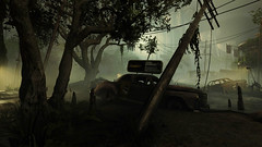 New Orleans (MG_MonkeyGames) Tags: swamp car abandoned new orleans america ruins fog mist haze green trees vehicle wolfenstein screenshot game videogame bethesda shooter distopian outdoor scenery