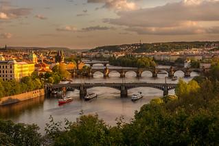 Prague bridges view