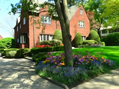 Watercolor Spring (e r j k . a m e r j k a) Tags: pennsylvania sdewickley upperohiovalley abode home spring garden flowers driveway landscape pa65 i79pa erjk explore
