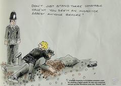 Woman-inspector (Robin Hutton) Tags: woman inspector police oxfror arrest robinhuttonart arwork cartoon