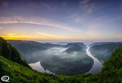 Saarschleife (cekuphoto) Tags: nature saar saarschleife goldenhour horse landscape panorama reflections river shoe sunrise inexplore