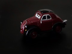 Uncle Topolino (☁☂It's Raining, It's Pouring☂☁) Tags: macromondays macro tiny car uncletopolino pixar disney 1937fiet500 diecast maroon black white lowkey onblack