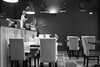 In a perfect world... (Lux Obscura) Tags: clocks restaurant bar blackandwhite chairs tables
