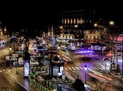 Place Clichy (touflou) Tags: paris nuit