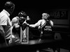 27375 - Uppercut (Diego Rosato) Tags: boxe boxelatina boxing pugilato ring reunion match incontro nikon d700 tamron 2470mm rawtherapee bianconero blackwhite pugno punch montante uppercut
