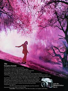 Mamiya/Sekor DTL camera system advertisement.