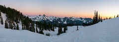 Tatoosh panorama (Laura Jacobsen) Tags: camping mtrainier mtrainiernationalpark nationalparks paradise rainier snow washington
