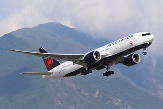 C-FNNH Air Canada 777-200LR, Hong Kong